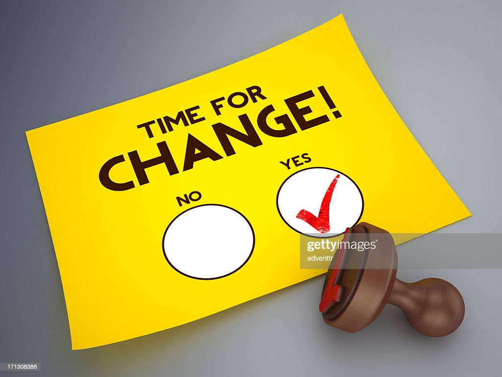 Time for change voting paper : Stock Photo