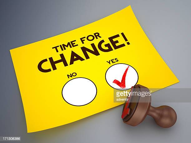 Time for change voting paper