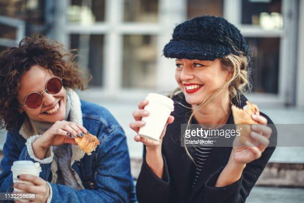 time for coffee and croissant - croissant stock pictures, royalty-free photos & images