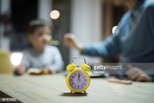 time for dinner - time management stock photos and pictures