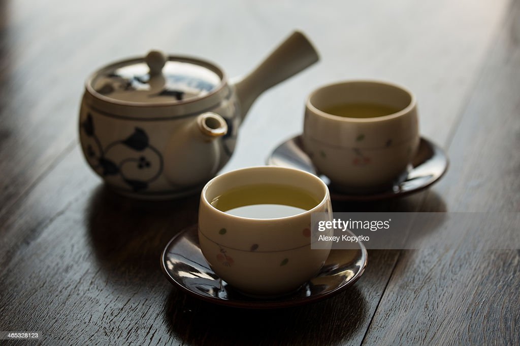 Time for green tea : Stock Photo
