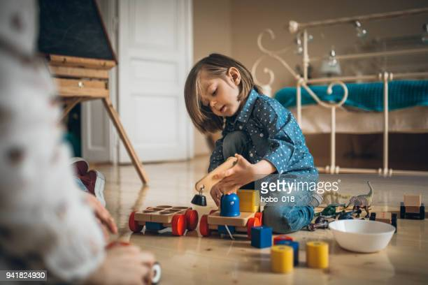 time for playing with toys - toy animal stock photos and pictures