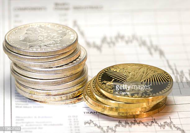 time for precious metals - degeneration stock photos and pictures