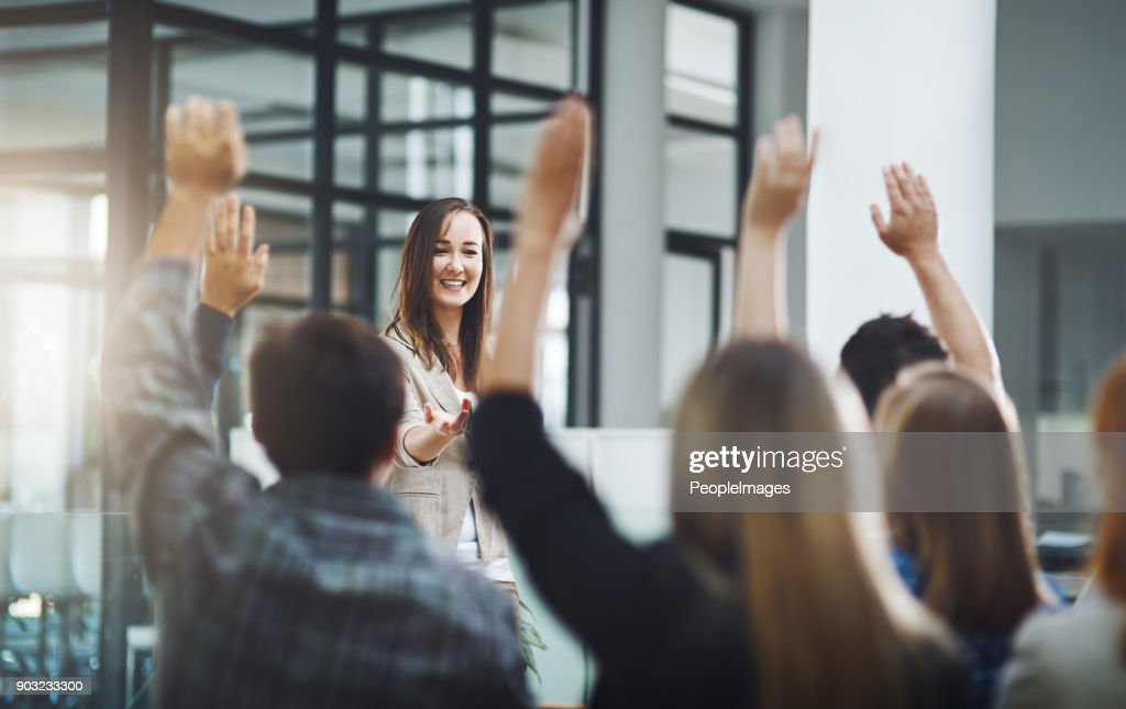 Time for some Q and A : Stock Photo