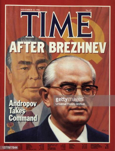 Time front cover 1982 Yuri Andropov replaces Leonid Brezhnev as soviet leader