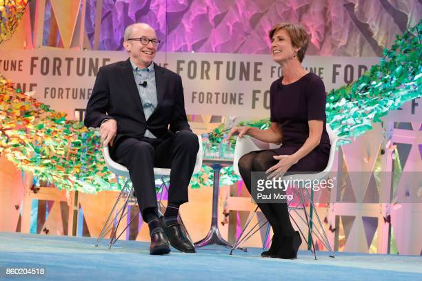 Time Inc Chief Content Officer Alan Murray and Former Deputy Attorney General US Department of Justice Sally Yates speak onstage at the Fortune Most...