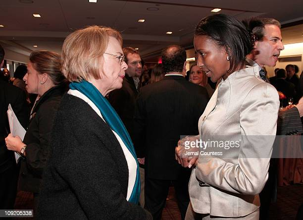 Time Inc Executive Ann Moore with Author and Social Activist Ayaan Hirsi Ali at the Times Person of The Year Luncheon at the Time Life Building on...