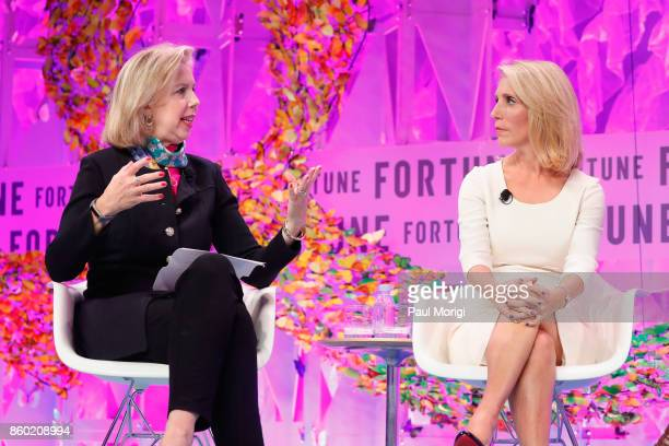 Time Inc News Group Editorial Director Nancy Gibbs and CNN Chief Political Correspondent Dana Bash speak onstage at the Fortune Most Powerful Women...