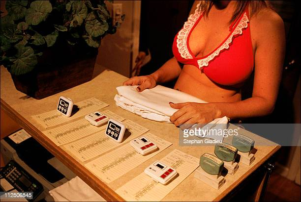 Time is money so a stopwatch is used to clock the time each prostitute spends with clients at the Moonlite Bunny Ranch a legal brothel owned by...