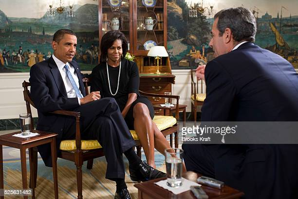 Time Managing Editor Rick Stengel interviews President Barack Obama and First Lady Michelle Obama at the White House in Washington