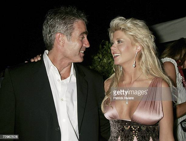 6 time motorcycle 250cc world champion Mick Doohan and actress Tara Reid attend the Conrad Jupiters Magic Millions Official Opening Night Function...