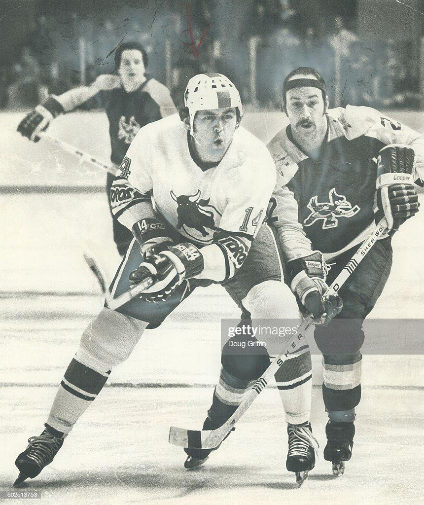 A time of change: Former Czechoslovakian national hockey star Vaclav Nedomansky (14); shown above be : News Photo