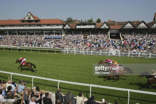 Time On ridden by Frankie Dettori wins the Weatherbys Bank Cheshire Oaks race during the May Festival at Chester Racecourse on May 10 2006 in Chester...