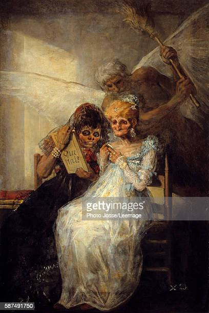 Time or the Old Women Painting by Francisco de Goya 1808 181 x 125 m BeauxArts Museum Lille France