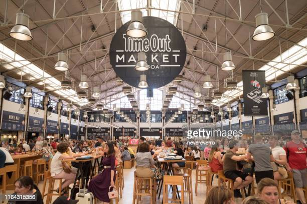 time out market, lisbon, portugal - inexpensive stock photos and pictures