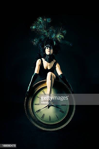 time performance art portrait - mlenny photography stock pictures, royalty-free photos & images