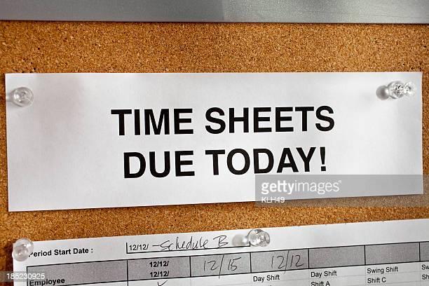 Time Sheet Notice