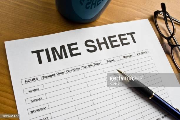 Time Sheet on a Desktop