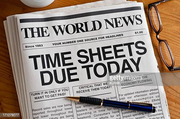Time Sheets Due