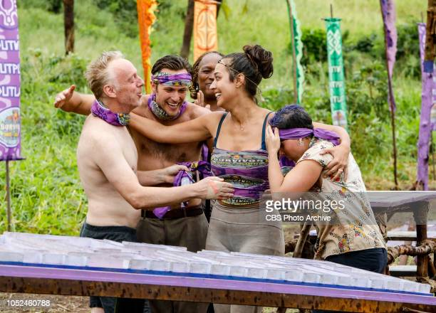 Time to Bring About the Charmpocalypse Mike White Nick Wilson Natalie Cole Angelina Keeley and Lyrsa Torres on the fourth episode of SURVIVOR David...