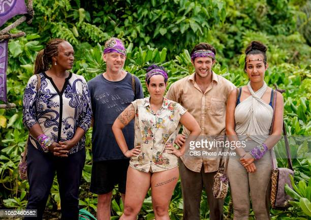 Time to Bring About the Charmpocalypse Natalie Cole Mike White Lyrsa Torres Nick Wilson and Angelina Keeley on the fourth episode of SURVIVOR David...