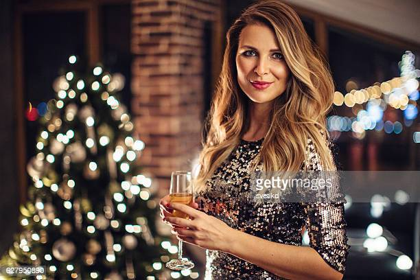 time to celebrate - christmas party stock photos and pictures