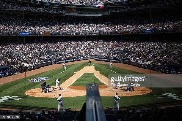 Time to reflect...Alex Rodriguez during his third at bat in a Yankees uniform after his year long ban in the New York Yankees Vs Toronto Blue Jays...