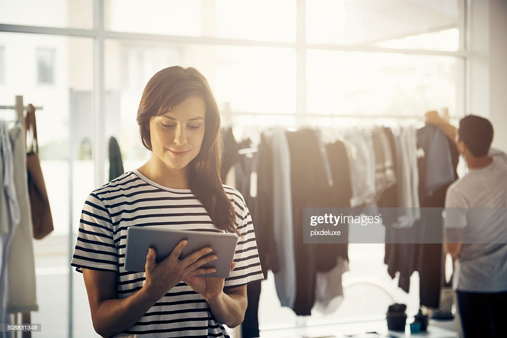 Time to release my new arrivals online : Stock Photo