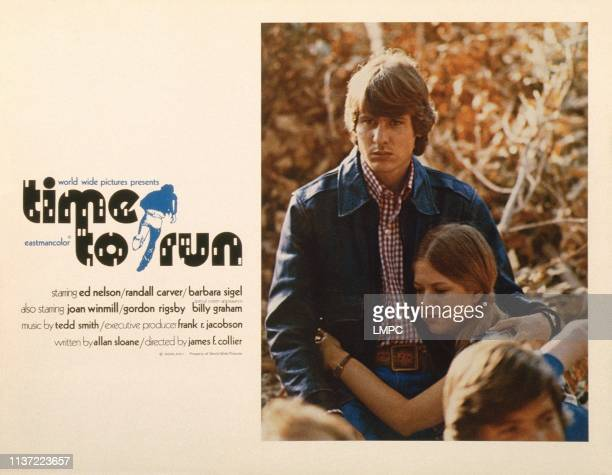 Time To Run poster US lobbycard from left Randall Carver Barbara Sigel 1973