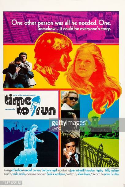 Time To Run poster US poster art top from center Randall Carver Barbara Sigel bottom center Ed Nelson 1973