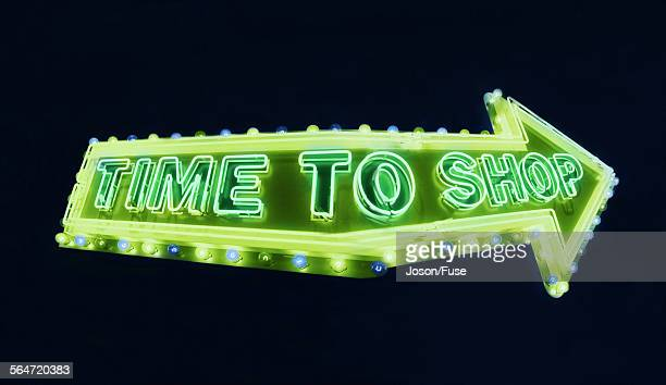 Time to shop sign