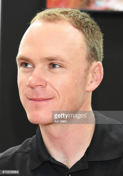 4 time Tour de France winner Chris Froome attends the talk event during Cycle Mode International at Makuhari Messe on November 5 2017 in Chiba Japan