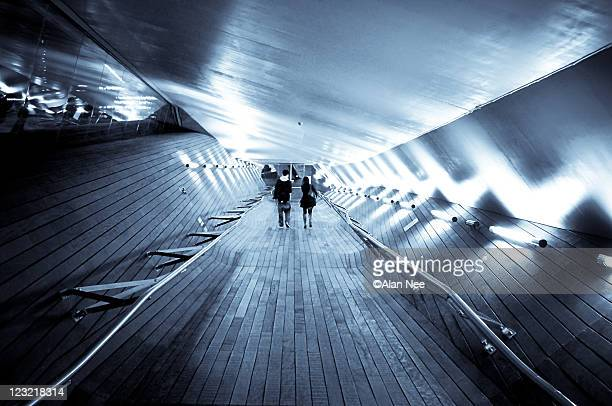 time tunnel - nee nee stock photos and pictures