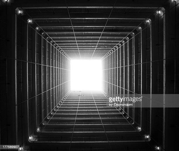 time tunnel - light at the end of the tunnel stock pictures, royalty-free photos & images