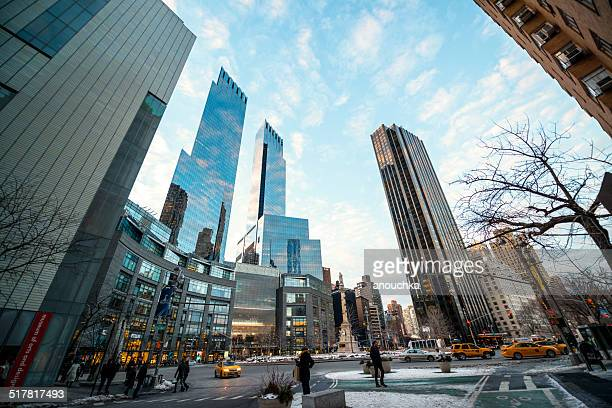 time warner center at columbus circle, nyc - time warner center stock pictures, royalty-free photos & images