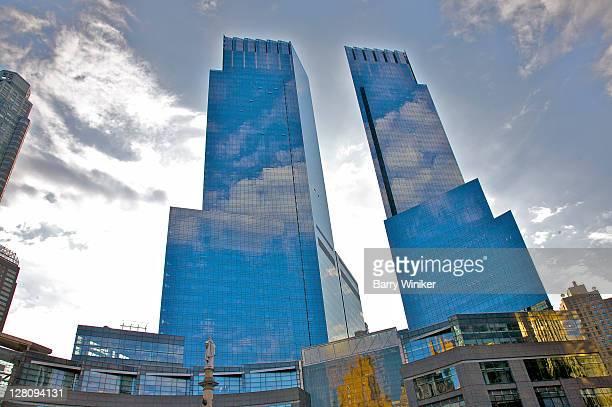 time warner center, columbus circle, new york, new york - time warner center stock pictures, royalty-free photos & images