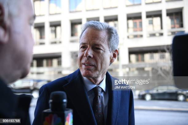 Time Warner CEO Jeff Bewkes arrives for opening statements in antitrust trial with the US government seeking to block the merger of ATT and Time...