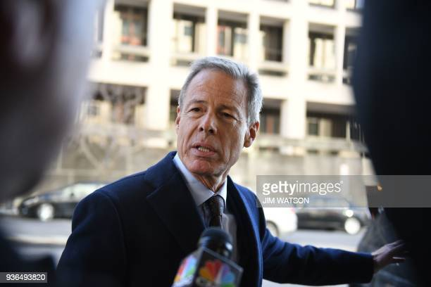Time Warner CEO Jeff Bewkes arrives for opening statements in anti-trust trial with the US government seeking to block the merger of AT&T and Time...