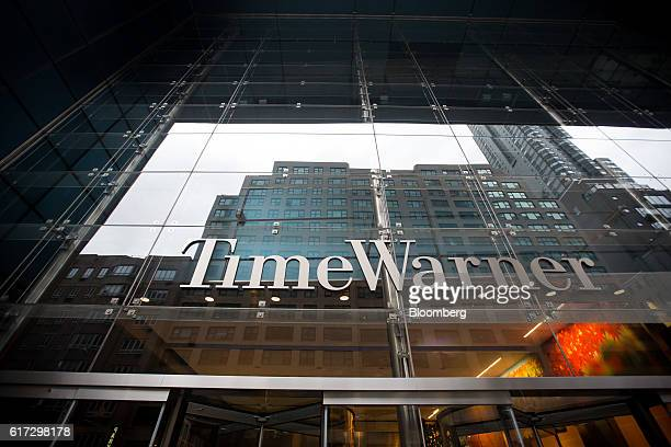 Time Warner Inc signage is displayed at the company's headquarters in New York US on Saturday Oct 22 2016 According to a statement Saturday ATT...