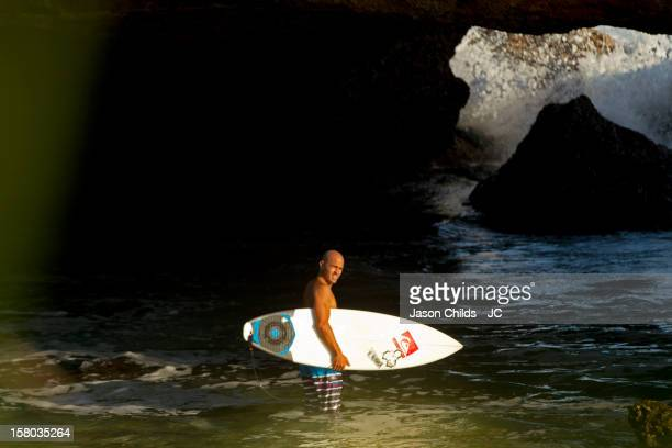 11 time World Surfing Champion Kelly Slater on a soul surf trip on April 27 2012 in Java Indonesia