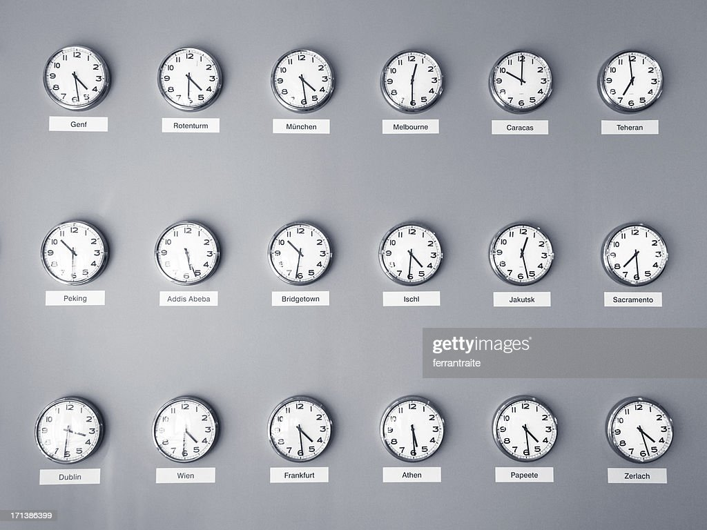 Time Zones : Stock Photo