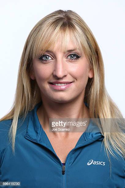 Timea Bacsinszky of Switzerland poses for a WTA Portrait at Arthur Ashe Stadium on August 26 2016 in New York City
