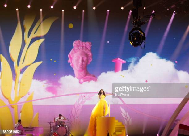 Timebelle from Switzerland performs with the song quotApolloquot during the Second SemiFinal of the Eurovision Song Contest in Kiev Ukraine 11 May...