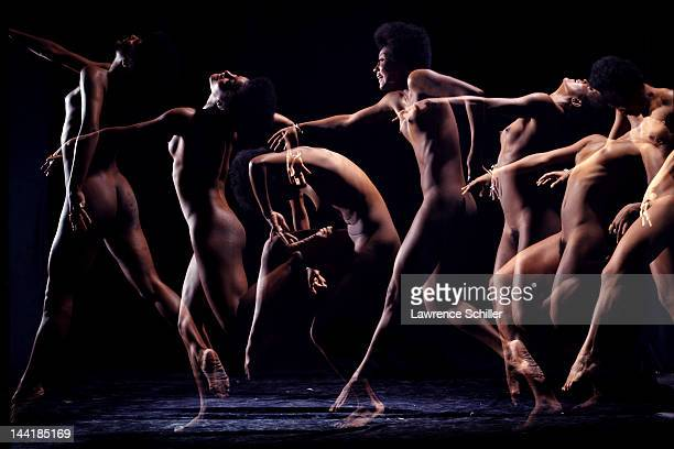 Timelapse multiple exposure portrait of American dancer Paula Kelly New York New York August 1969 The photo when published in Playboy magazine marked...