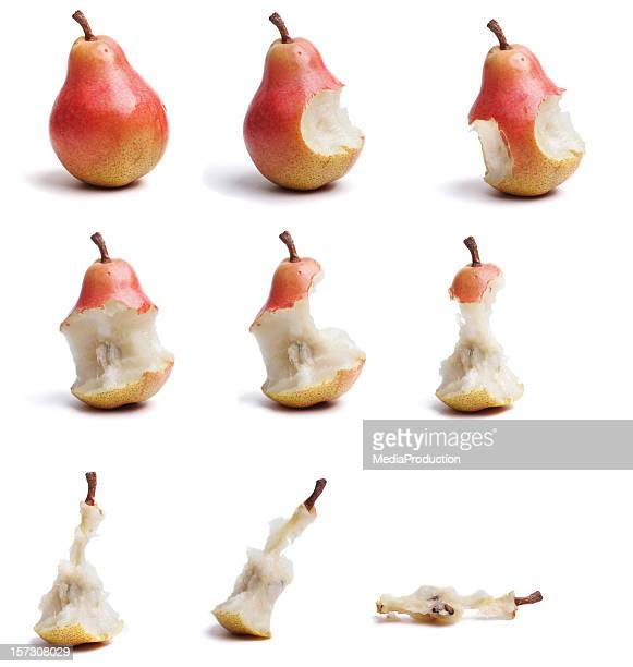 timelapse pear eating