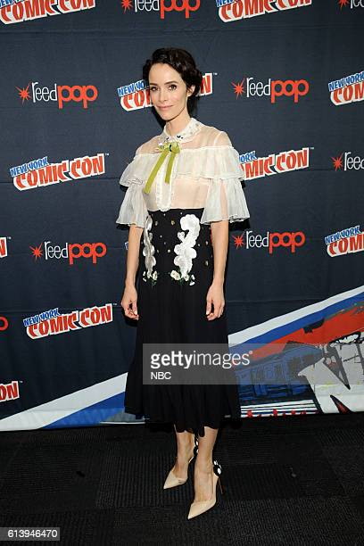 CON 2016 'Timeless' Press Room Pictured Abigail Spencer on Sunday October 9 2016 from the Javits Center in New York NY