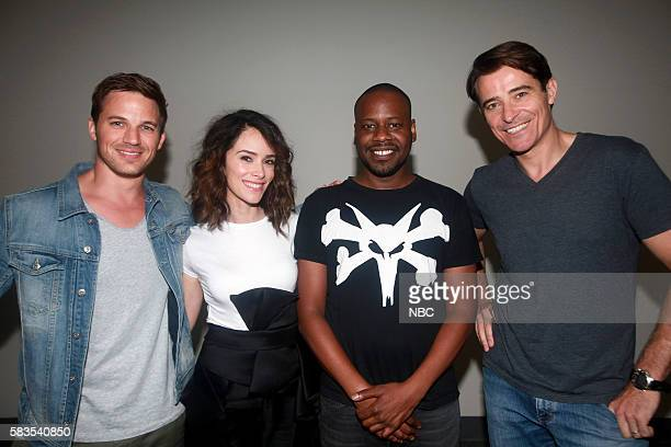 DIEGO 2016 Timeless Press Room Pictured Matt Lanter Abigail Spencer Malcolm Barrett Goran Visnjic Saturday July 23 from the San Diego Convention...