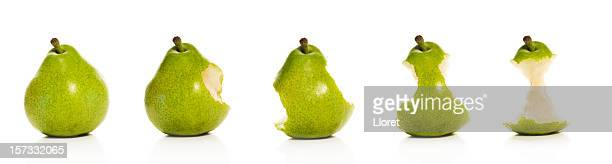 Timeline of eating a Pear (XXL)