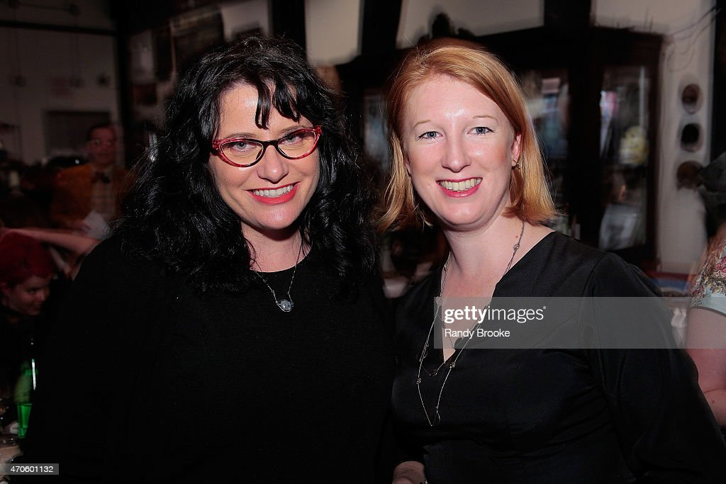 NY Times best selling author and founding board member Tonya Hurley, and guest attend the 2015 Morbid Anatomy Museum gala on April 21, 2015 in the Brooklyn borough of New York City.