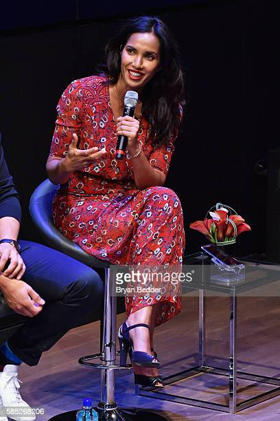Times Best Selling Author and Host/Executive Producer of 'Top Chef' Padma Lakshmi speaks during a panel as part of the 'Do More' Series celebrating...